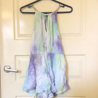 Open Back Mermaid Tyedye Playsuit