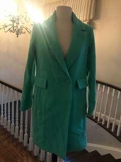 Mint Blue Wool coat Size S
