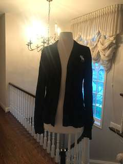 A&F Large size navy blue cardigan