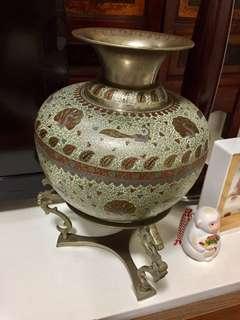 Antique Bronze Cloisonné Vase