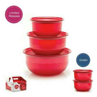 Tupperware Lucky Red bowl free