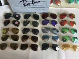 Rayban Sunglasses ray ban aviator flash lenses rb3025 58mm 62mm size polarized lenses $900 rayban brand new full packages original made in Italy