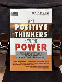 # Highly Recommended《New Book Condition + Ingredient Of WINNER》Ken Bossone - WHY POSITIVE THINKERS HAVE THE POWER : How to Use the Powerful Three-Word Motto to Achieve Greater Peace of Mind