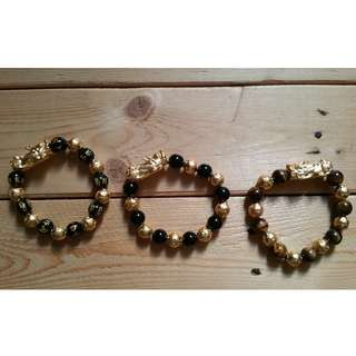 READY STOCK!!! Un-faded Colour Vietnamese Shakin/Sand Gold Pixiu Bracelet 0
