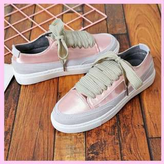 Sneakers korea pink color satin #ShareTheLove
