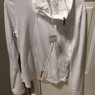 White BENCH Zip Up