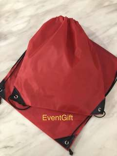 Red color swimming drawstring bag for kids goodies bag, birthday goodie favors, event door gift