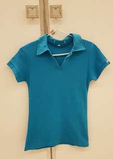 Kaos Berkerah Polo T-Shirt Biru Muda