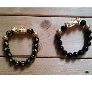 READY STOCK!!! Un-faded Colour Vietnamese Shakin/Sand Gold Pixiu Bracelet