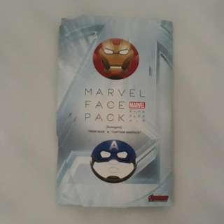 Marvel Ironman & Captain America Facial Masks