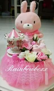Baby Gift/Diaper Cake for Baby Shower/1st Month Celebration/ 1st Birthday