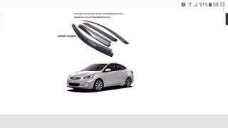 Hyundai Accent rain visor