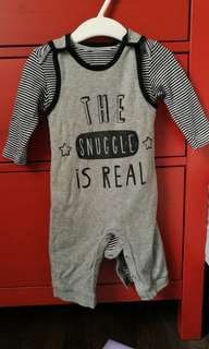 Early days - The snuggle is real romper