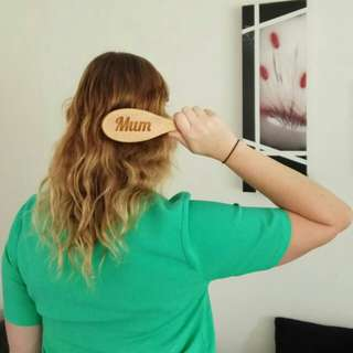 Personalised Bamboo hair brush