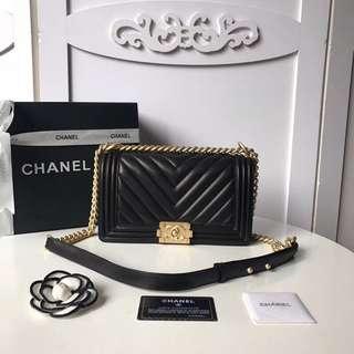 Chanel Boy Chevron Lambskin