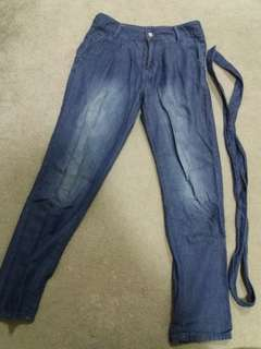 blue mango (mng) pants with belt #20under