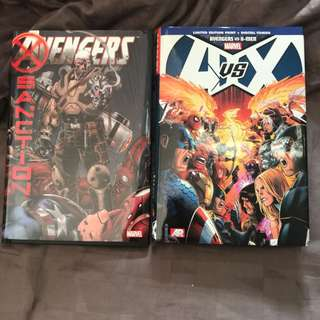 Marvel Comics Avengers vs X-Men Omnibus HC plus Avengers Sanction  Like New