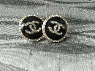 Chanel inspired diamante earrings