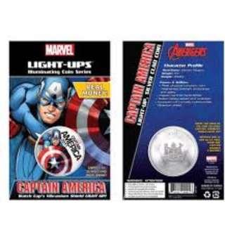 Marvel 2017 Captain America Light-Ups™ Coin