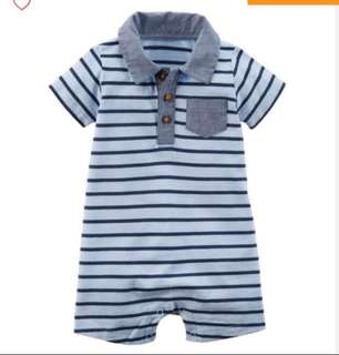 *24M* BN Carter's Striped Romper For Baby Boy