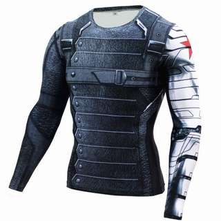 Winter soldier long sleeve compression