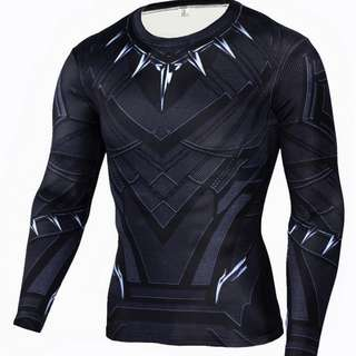 Black panther long sleeve compression