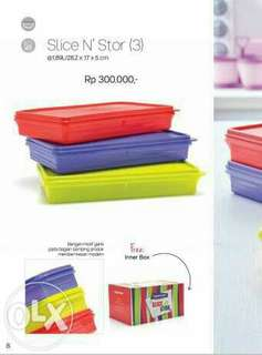 Tupperware slice n stor with box