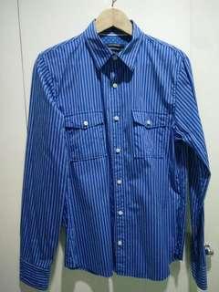 Club Monaco Bright Blue Long Sleeve Polo