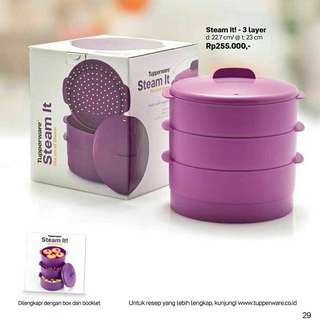 Tupperware Steam it purple 3 susun