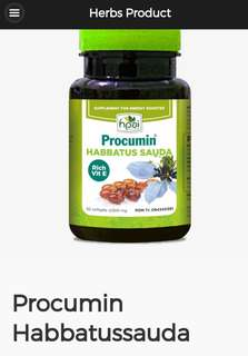PROCUMIN HABBATUSSAUDA HERBS SUPPLEMENT