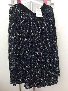 Plus size Korean Floral Skirt