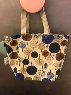 Japanese Pattern Fabric Tote Bag