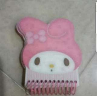 In Stock Sanrio My Melody Small Notebook Size is 6cm