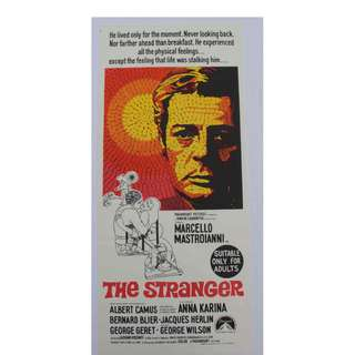 Vintage movie poster of the 1968 film Stranger