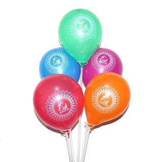 Eid Mubarak / 10pc Mix Color Balloon / Party