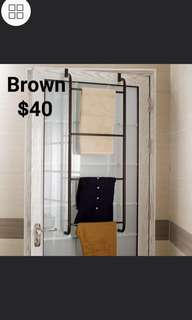 ( Brown $40 . White $35 ) European door after storage racks Hooks Backs Seamless Clothes Hanger Bathroom Door Hanging Hanger ( Register mail $5-$6 )