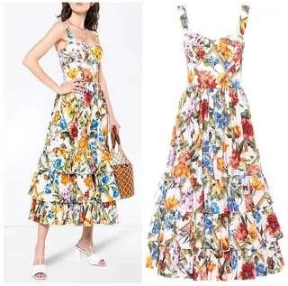 D&G Inspired Maxi Dress