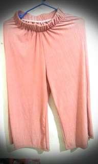 Half Garter Plain Pants