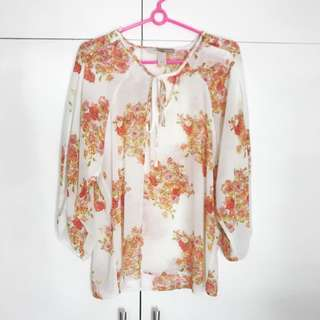 Forever 21 chiffon floral top