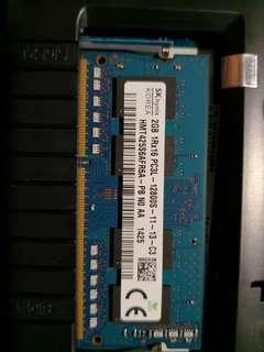 2Gb DDR3 1600 Notebook memory 1.5v
