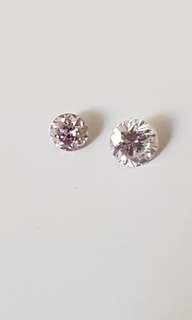 Natural pink diamond 2pcs