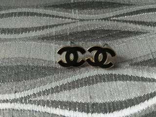 Chanel inspired black earrings