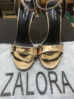 Velvet by Zalora Rosegold Heels
