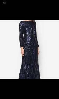 Sequin dress (navy)