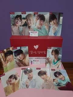 Wanna One Pleasia Photocards and toothpaste