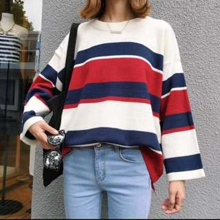 Ulzzang Colour block sweater