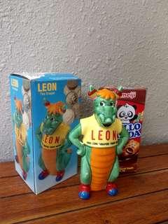 Vintage Leon the Dragon coin bank