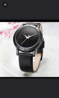 Black Glitter Fashion Watch