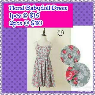 No. 16 Floral Babydoll Dress *Instock*