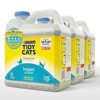 costco線上代購 #115777 Tidy Cats 高效清香凝結罐裝貓砂 6.35公斤 X 3罐